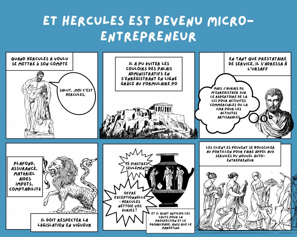 Bande-dessinée-Hercules-auto-entrepreneur-Assurance-RC-Pro